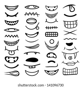 Cartoon mouth collection.