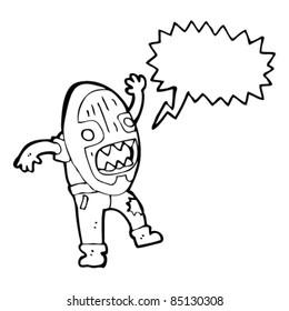 cartoon murderer mask man