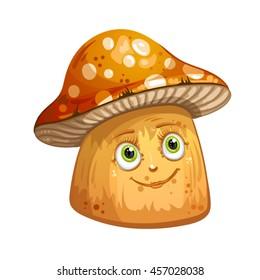 mushroom cartoon images stock photos vectors shutterstock rh shutterstock com mushrooms cartoon png mushroom cartoon picture