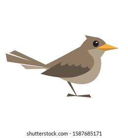 cartoon nightingale on a white background