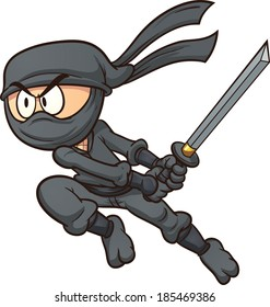 ninja cartoon images stock photos vectors shutterstock rh shutterstock com ninja warrior cartoon pictures ninja cartoon images