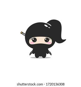 Girl Ninja Cartoon