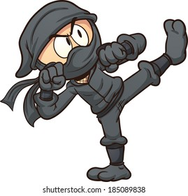 ninja cartoon images stock photos vectors shutterstock rh shutterstock com ninja warrior cartoon pictures female ninja cartoon pictures