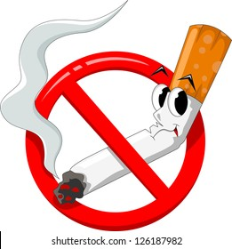 cartoon no smoking