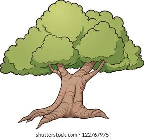 cartoon oak tree images stock photos vectors shutterstock rh shutterstock com white oak tree cartoon Animated Oak Tree