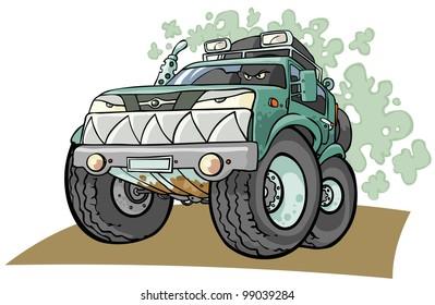 Cartoon Off road Vehicle.