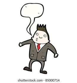cartoon office man whistling