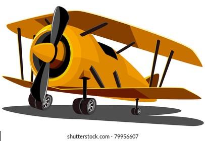 cartoon old airplane