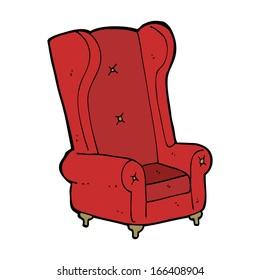 cartoon old armchair