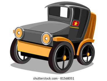 cartoon old car