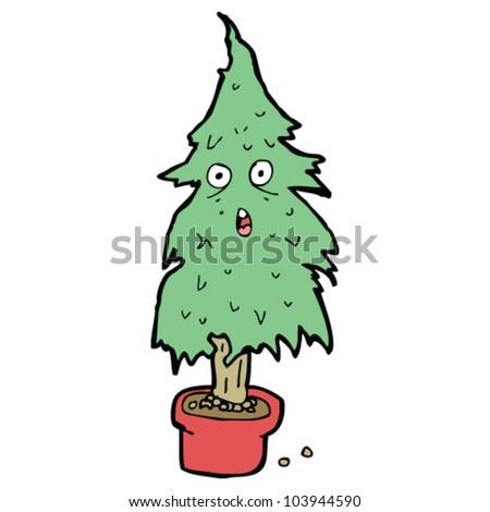 Cartoon Old Christmas Tree Stock Vector (Royalty Free) 103944590 ...