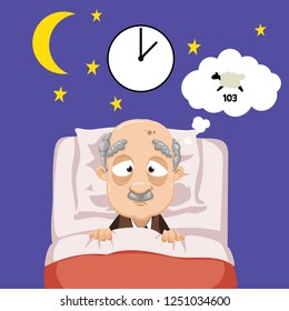 Sick In Bed Illustration Children