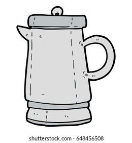 cartoon old metal kettle