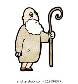 cartoon old shepherd