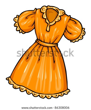 Cartoon Orange Dress