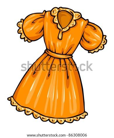 Cartoon Orange Dress