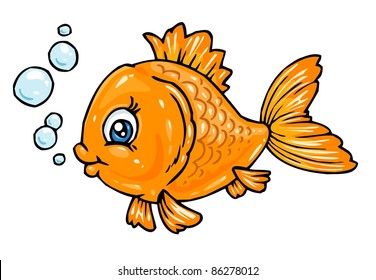 Cartoon Orange Fish
