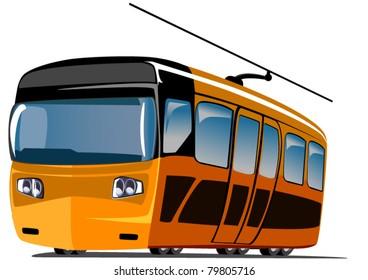 cartoon orange train
