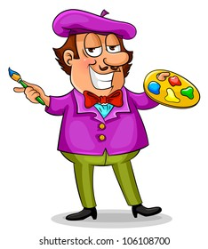 cartoon painter (jpeg version available in my portfolio)