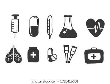 Cartoon painting Medical equipment Is a vector image or illustration that can be used for various designs and media.