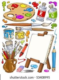 Cartoon Painting Tools - Clip-Art Color
