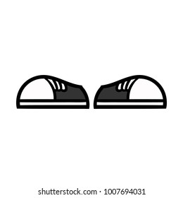 Cartoon Pair of Shoes Illustration