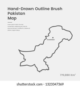 Pakistan Map Outline Vector