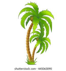 cartoon palm tree images stock photos vectors shutterstock rh shutterstock com Palm Tree Sketch Palm Tree Drawing