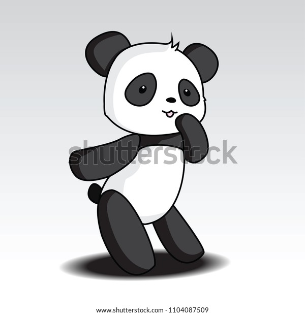 Cartoon panda Character. vector