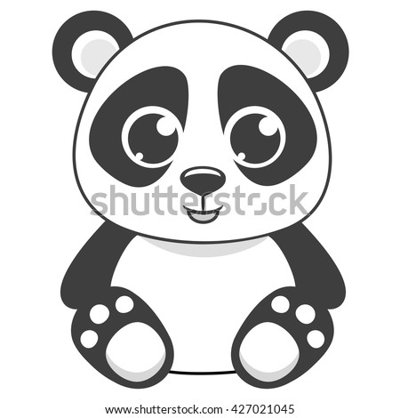 cartoon panda vector illustration stock vector royalty free
