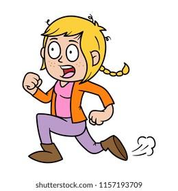 scared kid cartoon images stock photos vectors shutterstock https www shutterstock com image vector cartoon panicked girl running 1157193709