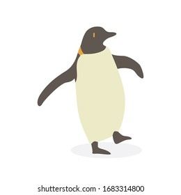 Cartoon penguin. Cute Cartoon penguin, Vector illustration on a white background. Drawing for children.