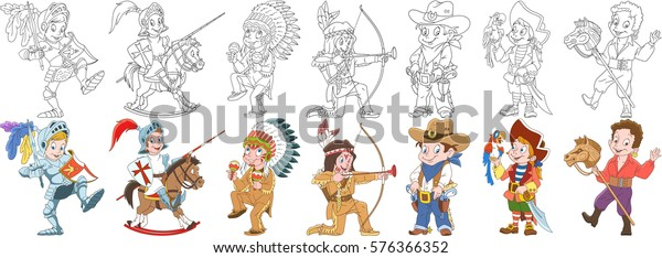 Nez Perce Native American on Appaloosa Horse Coloring Page | 234x600