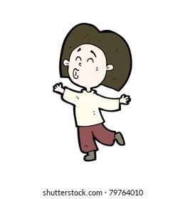 cartoon person prancing