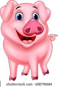 Cartoon pig character