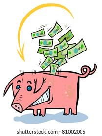 Cartoon Pig - Money-box.