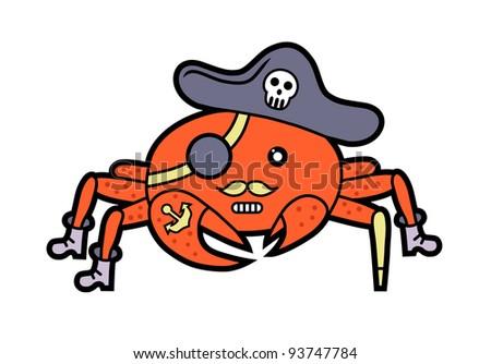 cartoon pirate crab stock vector royalty free 93747784 shutterstock