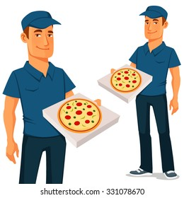 cartoon pizza delivery guy