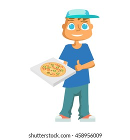Mature redhead and pizza guy