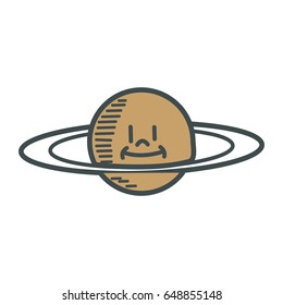 cartoon planet saturn space astronomy