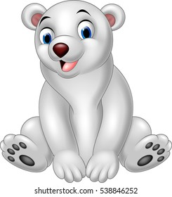 Cartoon polar bear sitting