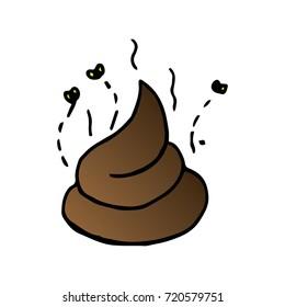 Cartoon of poo