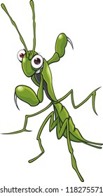 Cartoon praying mantis
