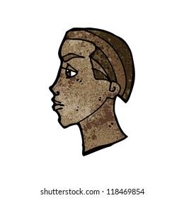 cartoon profile face sign