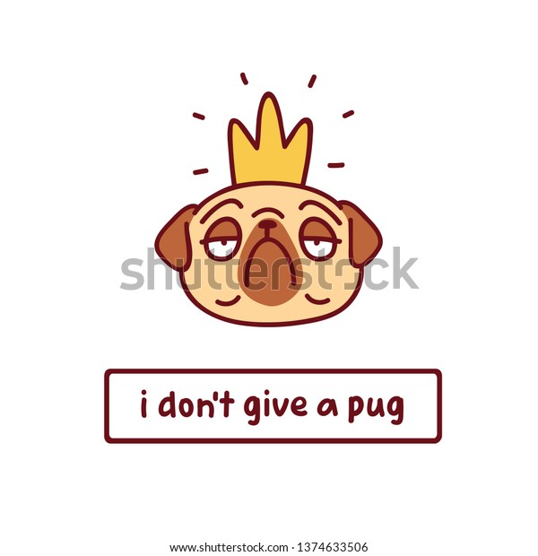 Cartoon Dog With Crown – Golden crown blue pillows cartoon styles cute dogs pikachu fonts social media illustration poster.