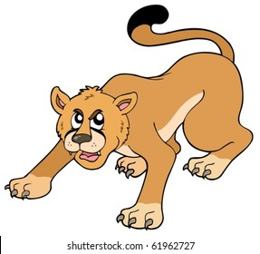 cartoon cougar images stock photos vectors shutterstock rh shutterstock com cartoon cougar paw cougar cartoon memes