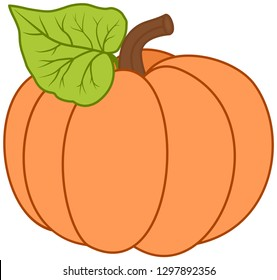 Cartoon pumkin illustration.