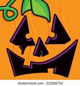 Cartoon Pumpkin Face