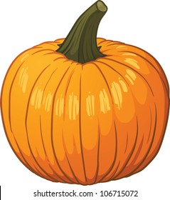Cartoon pumpkin. Vector illustration with simple gradients. All in a single layer.