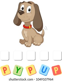 Cartoon puppy crossword. Put the letters in the correct order